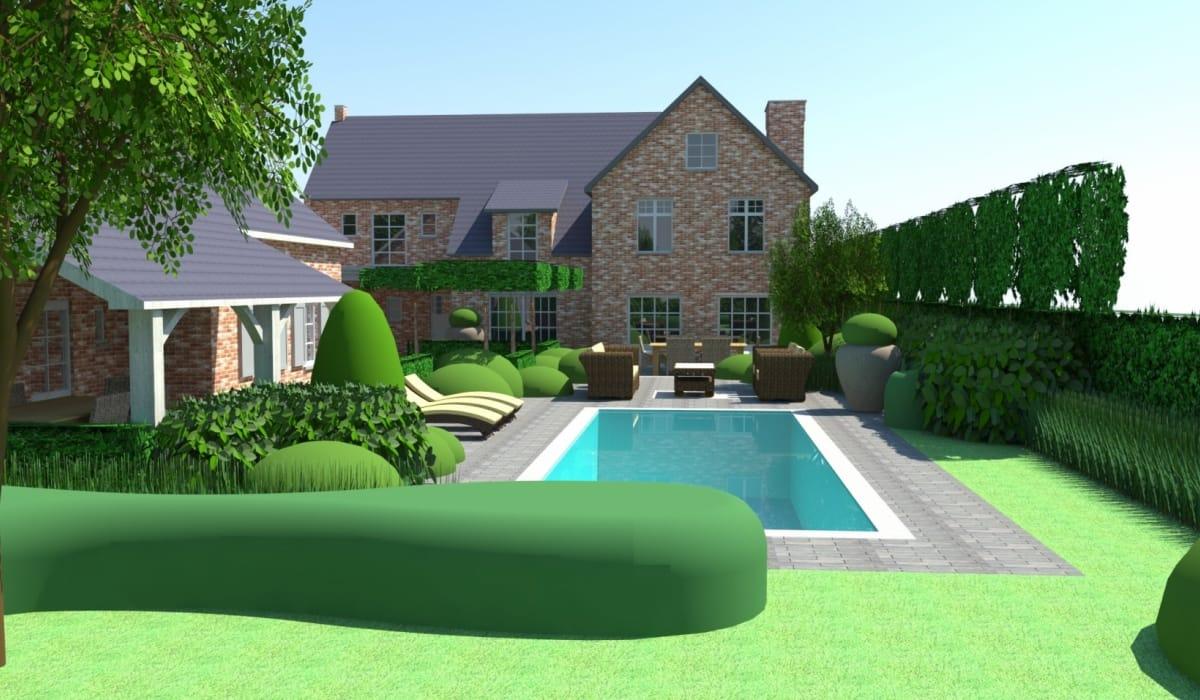 Grote Moderne Tuin : Verdé tuinarchitectuur tuinarchitect moderne en landelijke tuinen